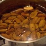 Recette gauloise : cuisson des glands à plusieurs eaux (pour supprimer le tannin)